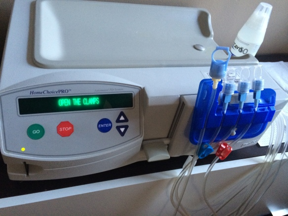 This here's a Baxter Peritoneal peritoneal dialysis machine. It smells like freedom and tastes like victory.